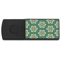 Yellow Flowers Pattern                                    			usb Flash Drive Rectangular (4 Gb) by LalyLauraFLM