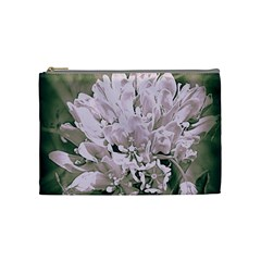 White Flower Cosmetic Bag (Medium)  by uniquedesignsbycassie