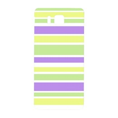 Yellow Purple Green Stripes Samsung Galaxy Alpha Hardshell Back Case by BrightVibesDesign