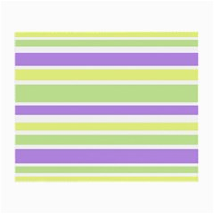 Yellow Purple Green Stripes Small Glasses Cloth (2 Side) by BrightVibesDesign