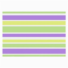 Yellow Purple Green Stripes Large Glasses Cloth by BrightVibesDesign