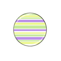 Yellow Purple Green Stripes Hat Clip Ball Marker (10 Pack) by BrightVibesDesign