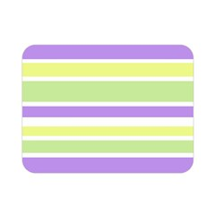 Yellow Purple Green Stripes Double Sided Flano Blanket (mini)  by BrightVibesDesign