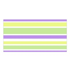 Yellow Purple Green Stripes Satin Shawl by BrightVibesDesign