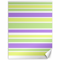 Yellow Purple Green Stripes Canvas 36  x 48   by BrightVibesDesign