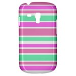 Pink Green Stripes Samsung Galaxy S3 MINI I8190 Hardshell Case