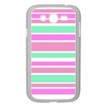 Pink Green Stripes Samsung Galaxy Grand DUOS I9082 Case (White)