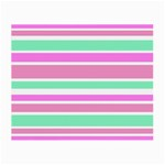 Pink Green Stripes Small Glasses Cloth (2-Side)