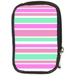 Pink Green Stripes Compact Camera Cases