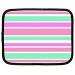 Pink Green Stripes Netbook Case (XXL)