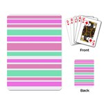 Pink Green Stripes Playing Card