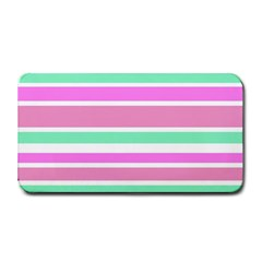 Pink Green Stripes Medium Bar Mats by BrightVibesDesign