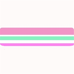Pink Green Stripes Large Bar Mats by BrightVibesDesign