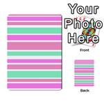 Pink Green Stripes Multi-purpose Cards (Rectangle)
