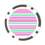 Pink Green Stripes Poker Chip Card Guards (10 pack)