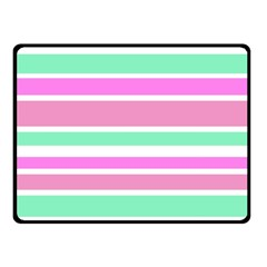 Pink Green Stripes Fleece Blanket (small) by BrightVibesDesign