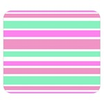 Pink Green Stripes Double Sided Flano Blanket (Small)