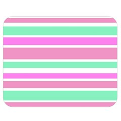 Pink Green Stripes Double Sided Flano Blanket (medium)  by BrightVibesDesign