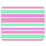 Pink Green Stripes Double Sided Flano Blanket (Medium)