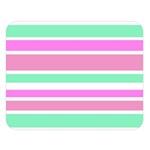 Pink Green Stripes Double Sided Flano Blanket (Large)