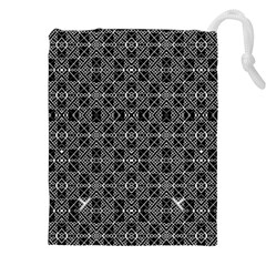 NUMBER ART Drawstring Pouches (XXL) by MRTACPANS