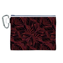 Sharp Tribal Pattern Canvas Cosmetic Bag (l) by dflcprints