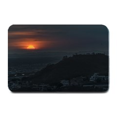 Sunset Scene Landscape Aerial View In Guayaquil From Cerro Del Carmen Plate Mats by dflcprints