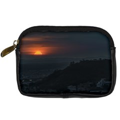 Sunset Scene Landscape Aerial View In Guayaquil From Cerro Del Carmen Digital Camera Cases by dflcprints