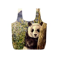 Panda Reusable Bag (S) by ArtByThree