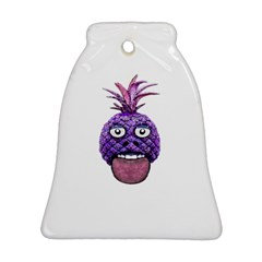 Funny Fruit Face Head Character Ornament (bell)  by dflcprints