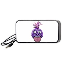 Funny Fruit Face Head Character Portable Speaker (black)  by dflcprints