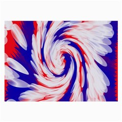 Groovy Red White Blue Swirl Large Glasses Cloth (2 Side) by BrightVibesDesign