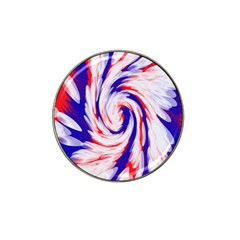 Groovy Red White Blue Swirl Hat Clip Ball Marker by BrightVibesDesign