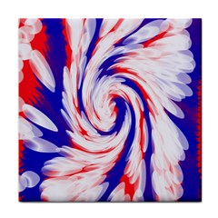Groovy Red White Blue Swirl Face Towel by BrightVibesDesign