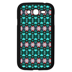 Fancy Teal Red Pattern Samsung Galaxy Grand Duos I9082 Case (black) by BrightVibesDesign