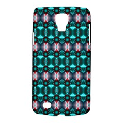 Fancy Teal Red Pattern Galaxy S4 Active by BrightVibesDesign