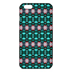 Fancy Teal Red Pattern Iphone 6 Plus/6s Plus Tpu Case by BrightVibesDesign