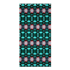 Fancy Teal Red Pattern Shower Curtain 36  x 72  (Stall)  by BrightVibesDesign