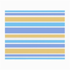 Blue Yellow Stripes Small Glasses Cloth by BrightVibesDesign