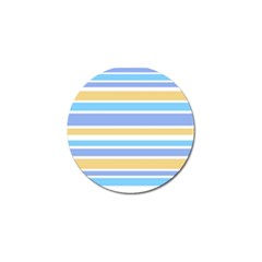 Blue Yellow Stripes Golf Ball Marker (4 pack) by BrightVibesDesign
