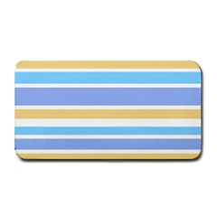 Blue Yellow Stripes Medium Bar Mats by BrightVibesDesign