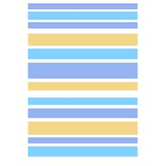 Blue Yellow Stripes 5.5  x 8.5  Notebooks by BrightVibesDesign