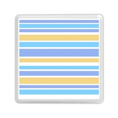 Blue Yellow Stripes Memory Card Reader (square)  by BrightVibesDesign