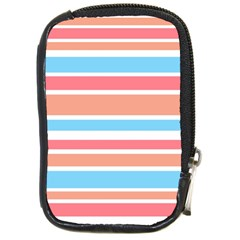 Orange Blue Stripes Compact Camera Cases by BrightVibesDesign