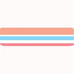 Orange Blue Stripes Large Bar Mats by BrightVibesDesign