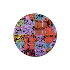 Paint Texture                                     rubber Coaster (round) by LalyLauraFLM