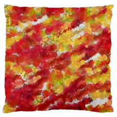 Colorful Splatters                                      	large Flano Cushion Case (two Sides) by LalyLauraFLM