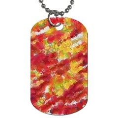 Colorful Splatters                                      dog Tag (one Side) by LalyLauraFLM