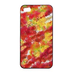 Colorful Splatters                                      apple Iphone 4/4s Seamless Case (black) by LalyLauraFLM