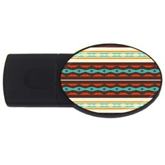 Stripes And Rhombus Chains                                      			usb Flash Drive Oval (2 Gb) by LalyLauraFLM